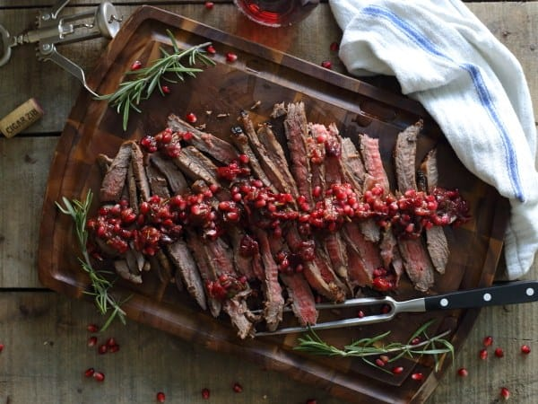 Balsamic Pomegranate Cranberry Flank Steak