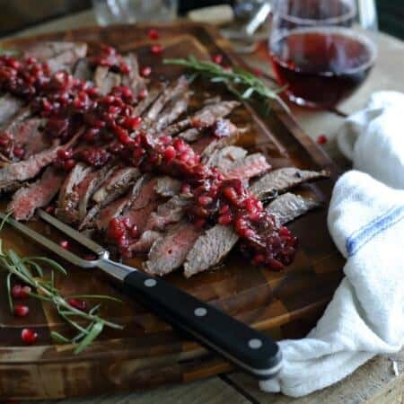 Pomegranate cranberry flank steak 450x450