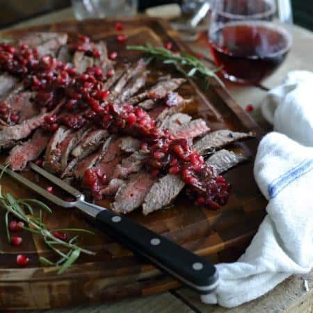 Balsamic Pomegranate Flank Steak
