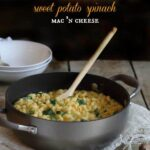 Sweet potato spinach mac and cheese 450x450