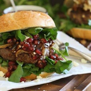 Pomegranate Feta Bison Burgers