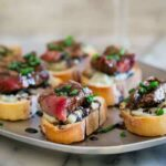 Blue Cheese Steak Crostini {Video}