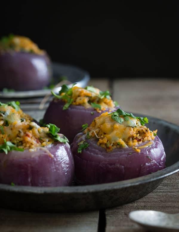 Mexican stuffed onions