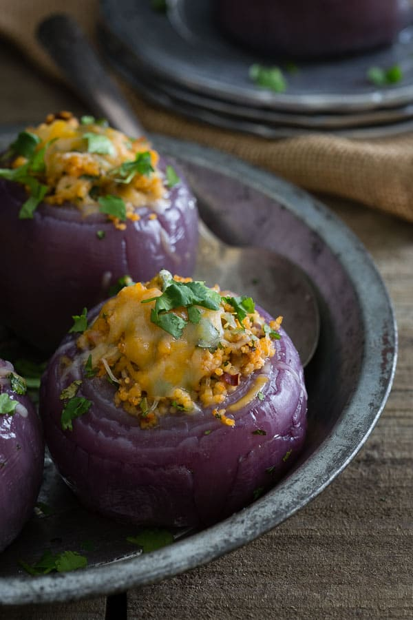 Mexican Chicken and Couscous Stuffed Onions