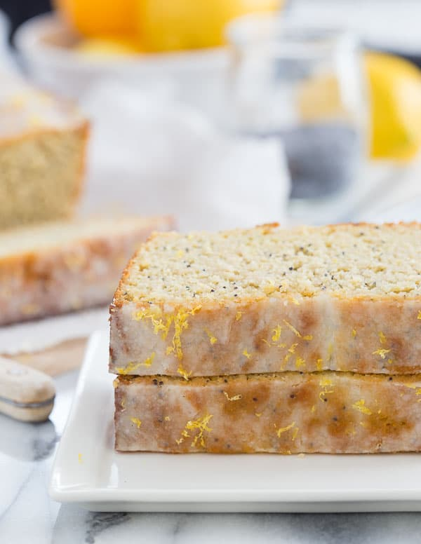 Low Carb Lemon Poppyseed Bread