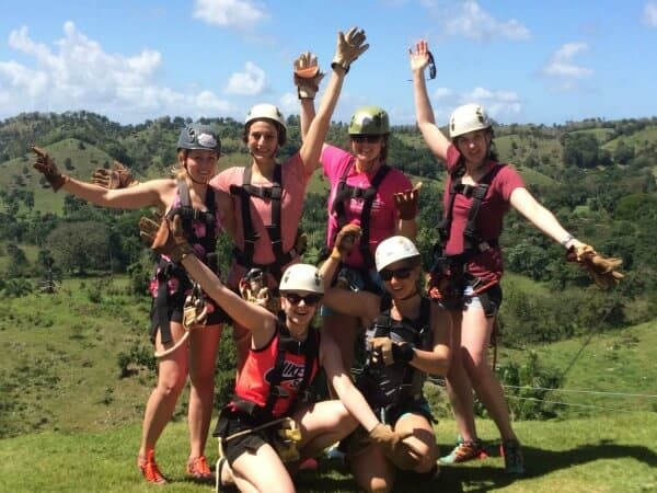 Zipline group shot