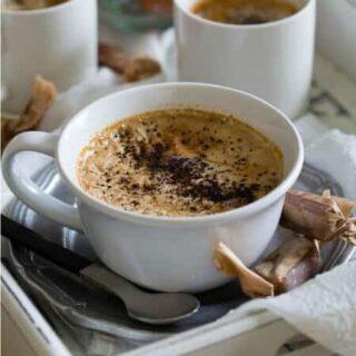 Coconut Caramel Coffee Pudding