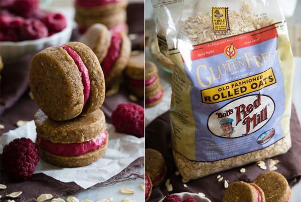 Gluten Free Oatmeal Raspberry Sandwich Cookies
