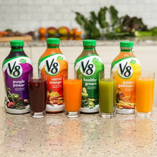 V8 vegetable and fruit blends