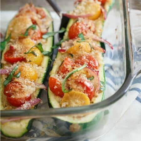 Bruschetta Hummus Stuffed Zucchini 450x450