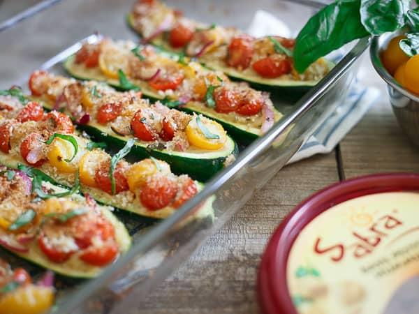 Bruschetta Stuffed Zucchini