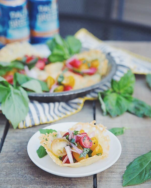 Cheddar Cheese Tomato Salad Cups