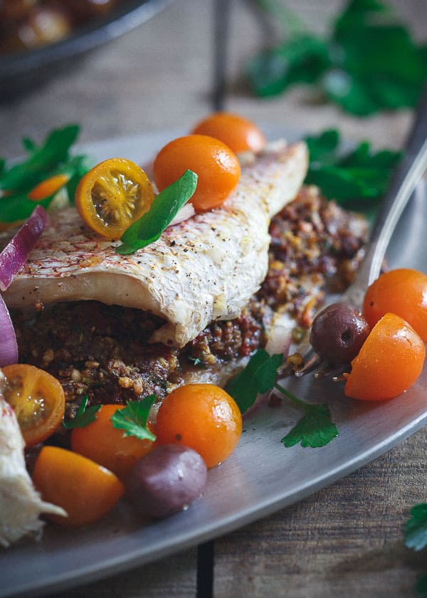 Stuffed Whole Red Snapper