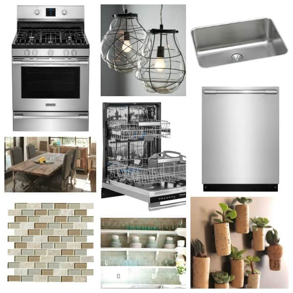 Kitchen inspiration collage