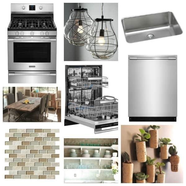 Kitchen inspiration collage