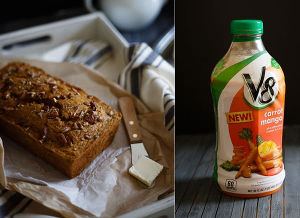 Whole wheat mango carrot spice bread