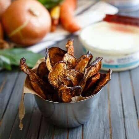 Mediterranean eggplant chips 450x450