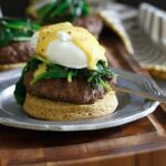 Open Faced Burger Benedict 450x450