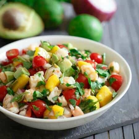 Shrimp avocado mango lime salad 450x450