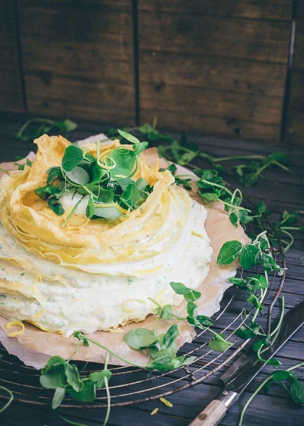 Sweet Pea Lemon Ricotta Crepe Cake