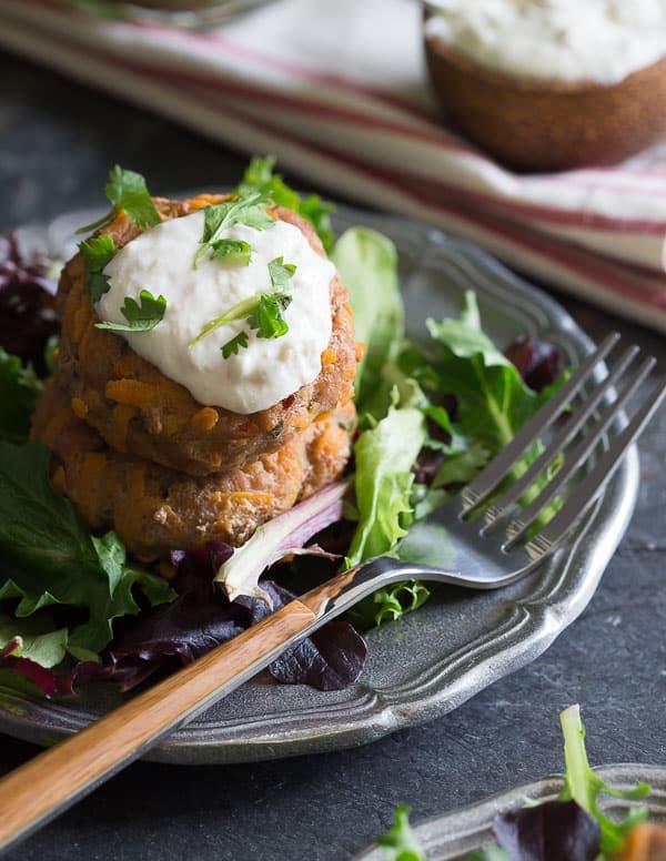 Turkey sweet potato patties
