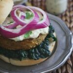 Curry Roasted Eggplant Hummus Burgers 450x450