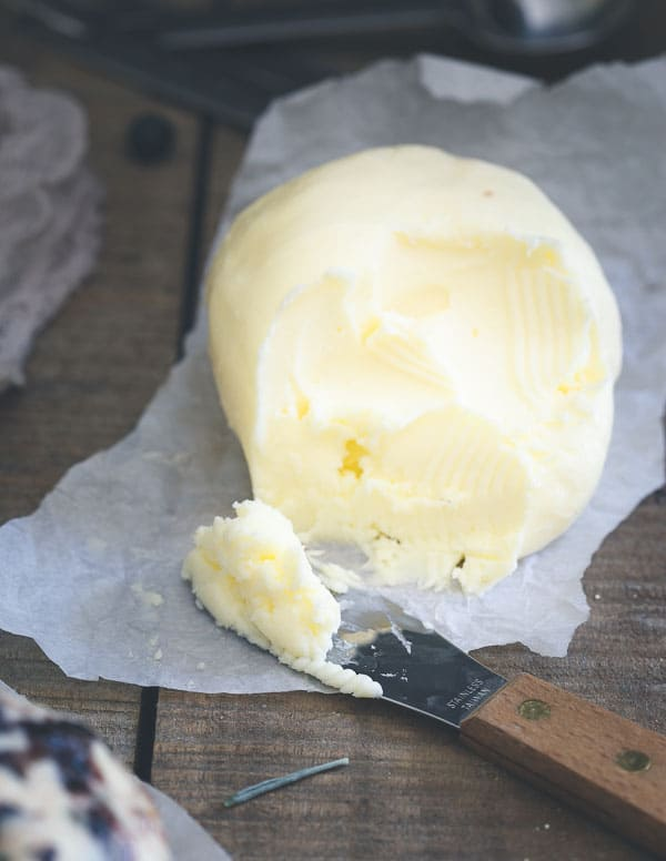 Homemade Butter in a stand mixer