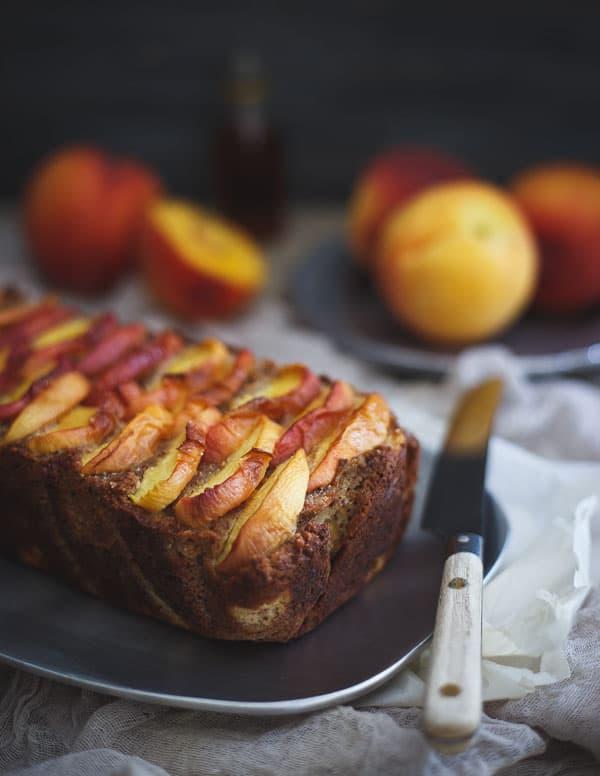 Paleo Maple Peach Bread
