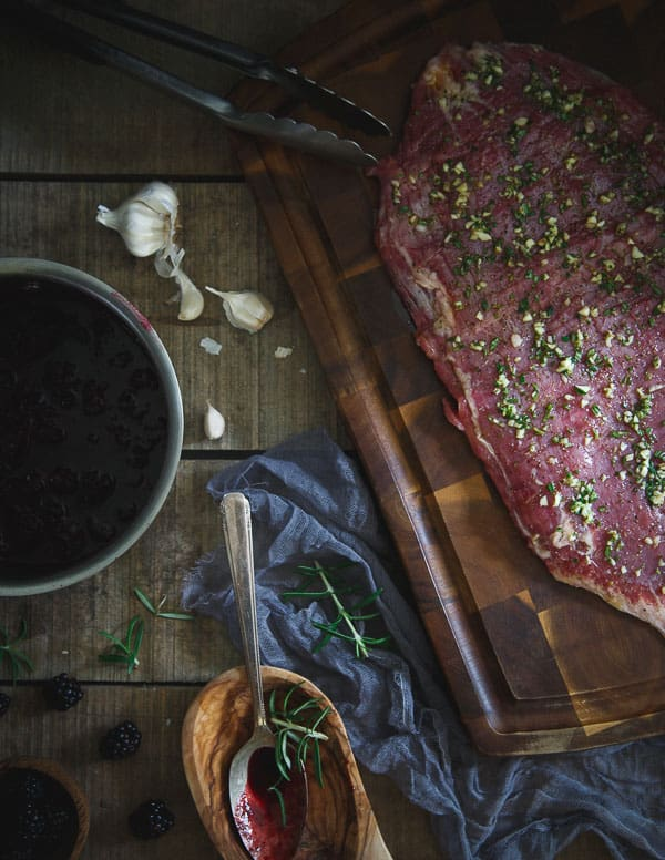 Rosemary Garlic Flank Steak