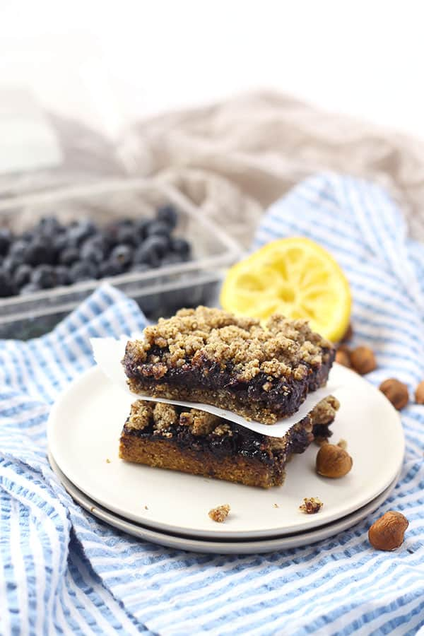 Blueberry Hazelnut Crumb Bars