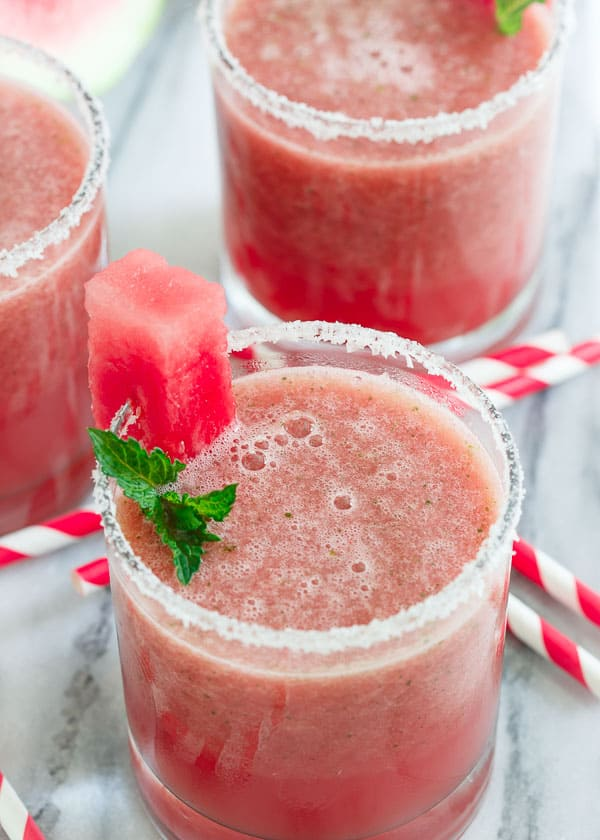 Jalapeno Watermelon Margarita Shooter