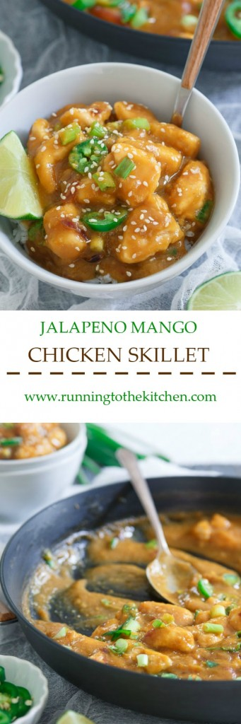 25 minute jalapeno mango chicken skillet
