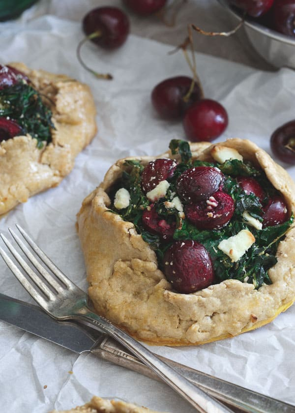 Kale and Cherry Galettes