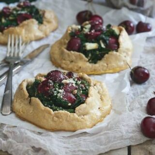 Mini Kale and Cherry Galettes