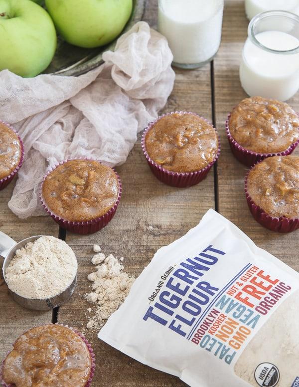 Glazed apple fritter muffins