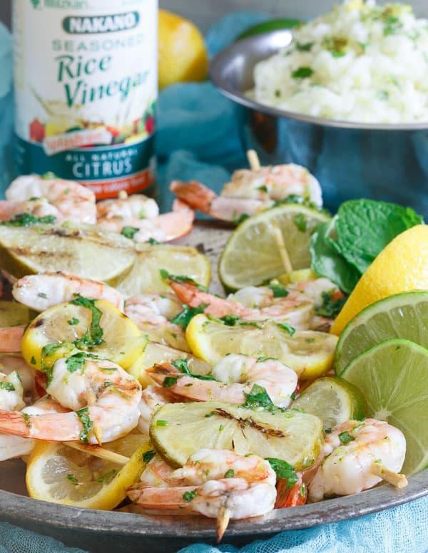 Lemon Lime Shrimp Skewers