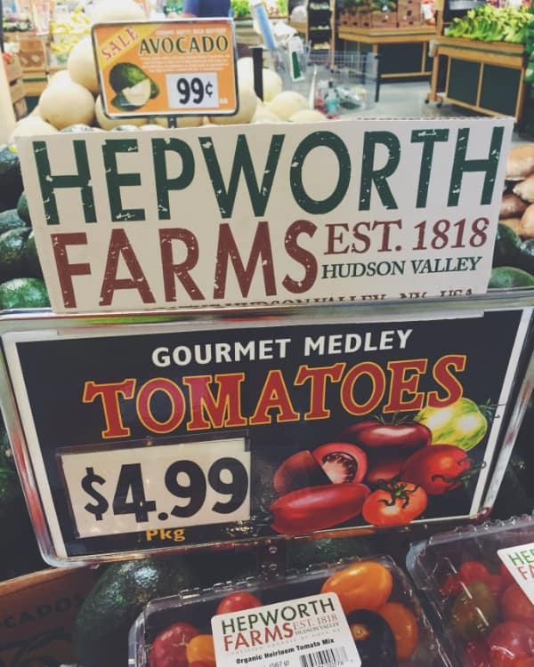 Hudson Valley heirloom tomatoes