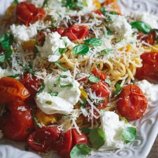 Pasta Checca with Burrata