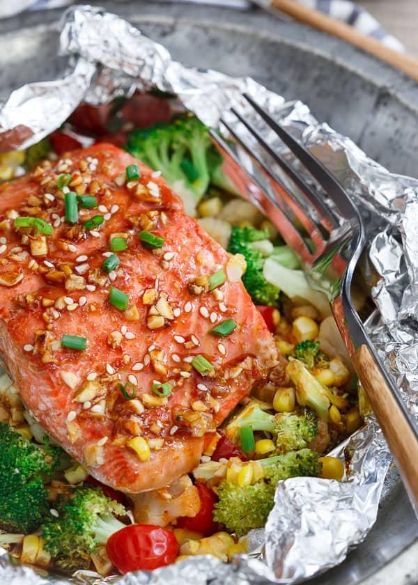 Sriracha honey salmon