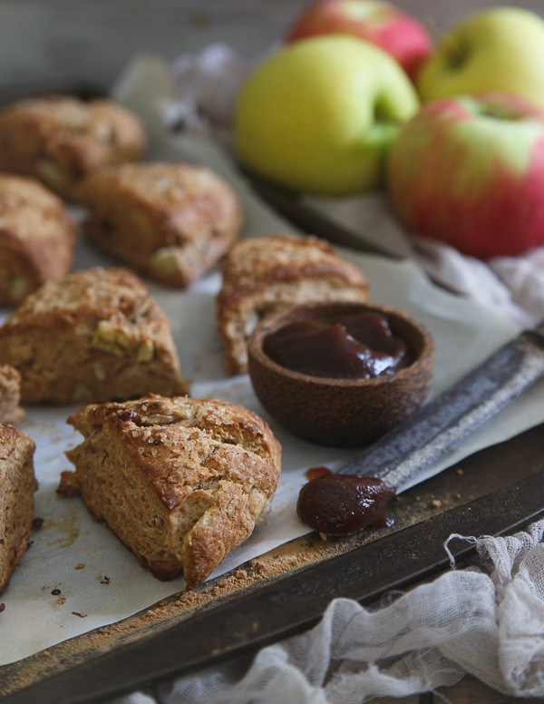 Apple butter and bacon scones
