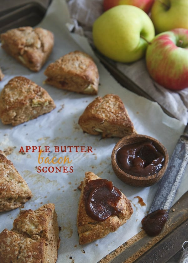 Bacon apple butter scones