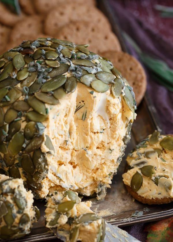 Herbed Pumpkin Cheese Ball