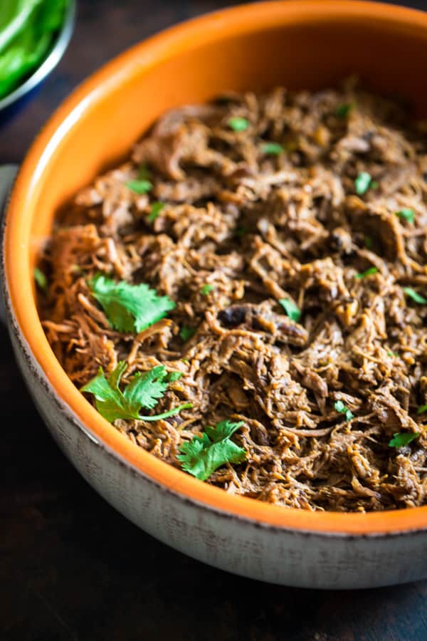 Shredded Slow Cooker Roast Beef with Pumpkin and Salsa