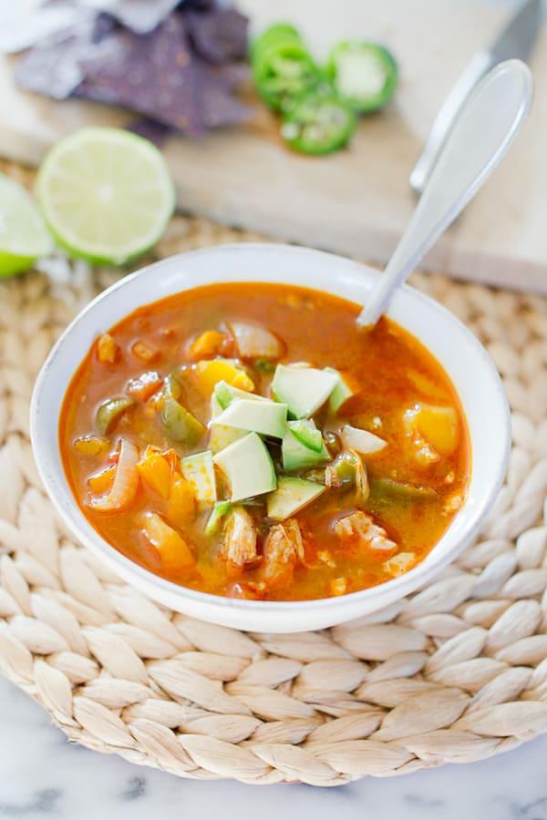 Slow Cooker Fajita Soup