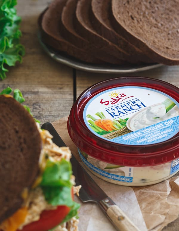 Ranch chicken salad cheddar melt