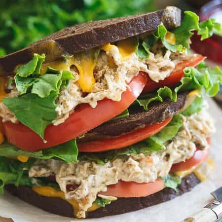 Southwest Ranch Chicken Salad Cheddar Melt