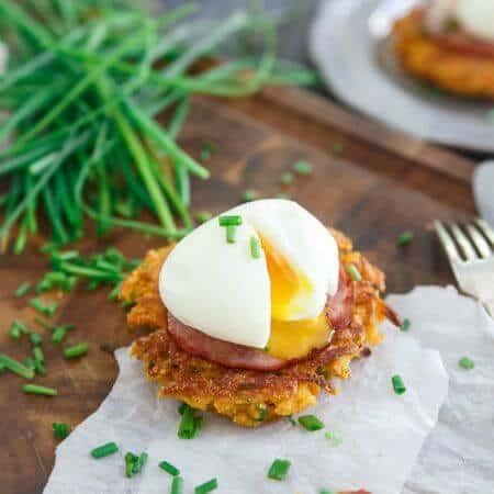 Sweet Potato Fritter Breakfast Sandwich - 450x450