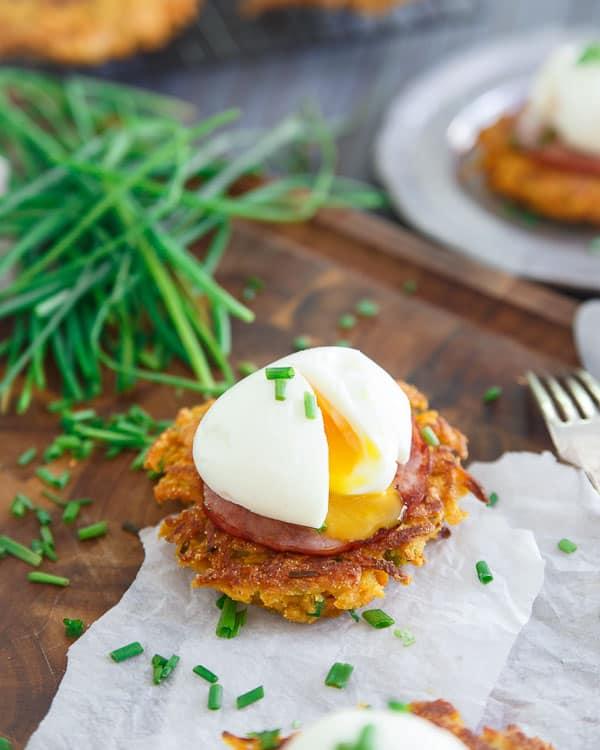 Sweet Potato Fritter Breakfast Sandwich