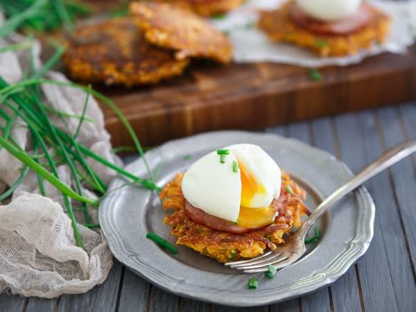 Sweet Potato Breakfast Fritter Sandwiches