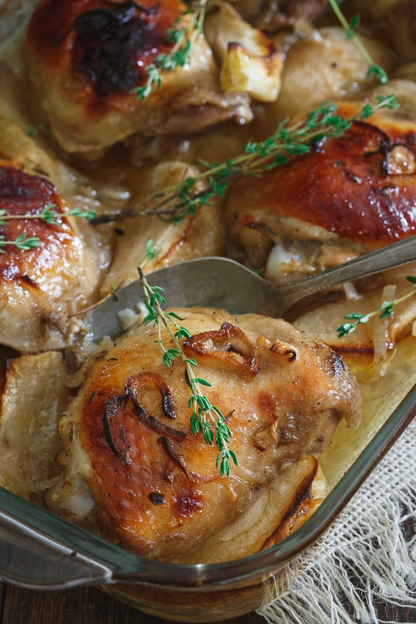 Roasted Maple Ginger Chicken Thighs